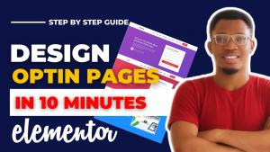 how to create an optin page in wordpress