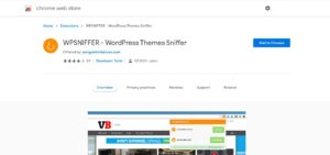 best free chrome extensions wpsniffer