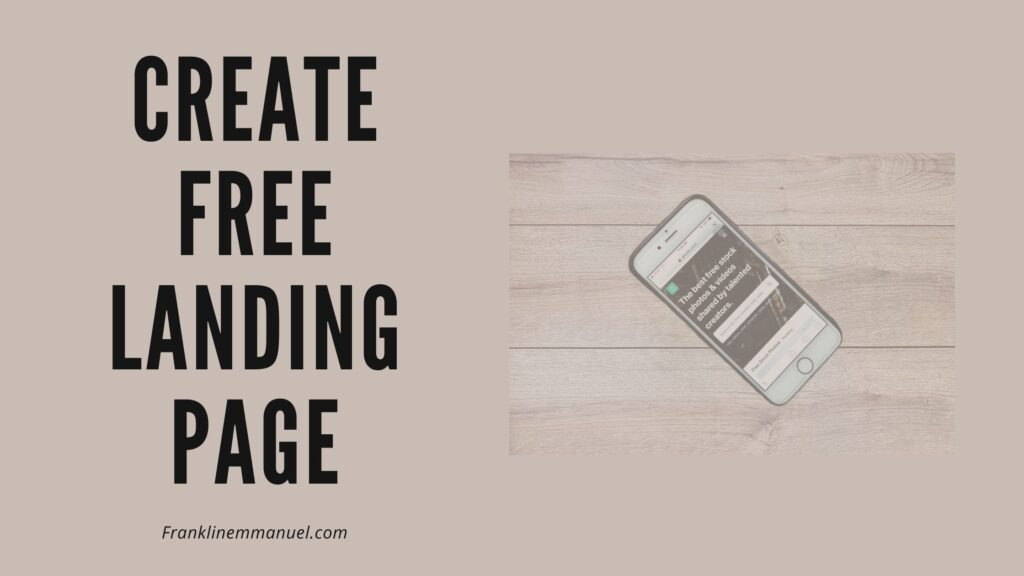 create a free landing page