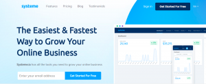 how to create a free landing page systeme