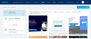 how to create a free landing page systeme template
