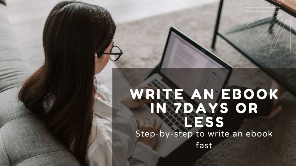 how to write an ebook fast featured