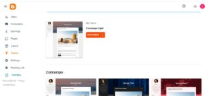how to create a blog with blogger theme